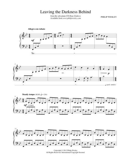 Dreaming in Color - Beyond Cloud Nine - Sheet Music - Philip Wesley